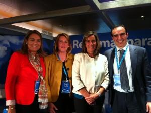 Susana Camarero, María Jesús Susinos, Ana Mato, Javier Puente